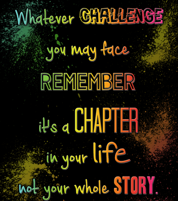 Challenges are chapters